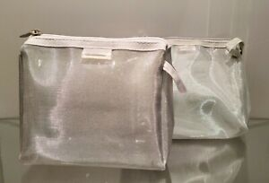 2 X Cosmetic Bag Makeup Case Toiletry Bag Make Up Authentics Decor Gift