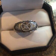 Men's 14k White Gold Diamond Ring Size 9