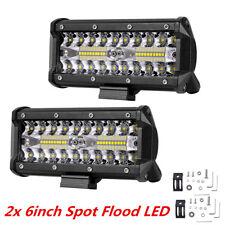2Pcs 6inch 240W Off-road Driving Lights LED Work Lamp Bar Spot Flood Fog Lights