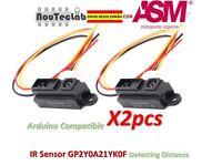2pcs GP2Y0A21YK0F IR Sensor Measuring Detecting Distance Sensor 10 to 80cm