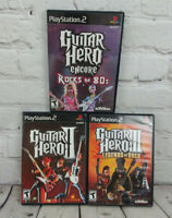 Guitar Hero 2 3 & Encore Rocks the 80s (Sony PlayStation 2 PS2) Video Game Lot