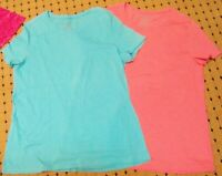 2 Womens Plus Size 2X pull over T Shirts blouses cotton stretch tops Faded glory