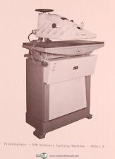 USM Model B, Hytronic Cutting Machine, Operations and Parts Manual