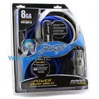 STINGER SK6281 COPPER WIRE 8 GAUGE AWG CAR AUDIO AMPLIFIER INSTALL WIRING KIT