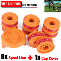 8Pack For WORX WA0010 Replacement Spool Line For Grass Trimmer/Edger 10ft WA6531