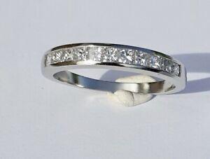 Rhapsody Platinum 950 1 Carat Princess Cut Diamond Eternity Ring Size U