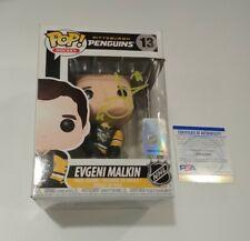 Evgeni Malkin Pittsburgh Penguins NHL SIGNED Autographed FUNKO POP #13 PSA