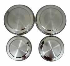 4pc Hob Cover Set Stainless Steel Metal Electric Cooker Ring Lid