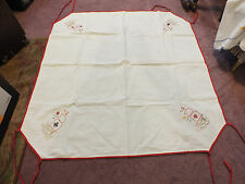 Beautiful Tablecloth Card Table Of White Red Leg Ties Ships 32 Inch UNIIQUE