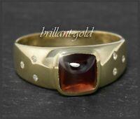 Granat & Diamant Damen Cocktail Ring aus 375 Gold, Gelbgold, mit 3ct Edelsteinen