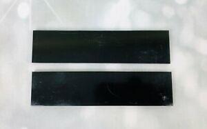G10 BLACK 150x35x6mm Scales for knife handle making/woodcraft/bushcraft