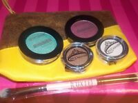4 Colors Eye Shadows by M Princess & City Colors w/ Luxie 249 Brush~Ipsy Bag