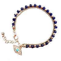 Hot Women's Fashion Jewelry Charm Hamsa Hand Lucky Evil Eye Beads Bracelet、Pop