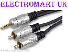 3.5MM STEREO MINI JACK TO 2 X RCA PHONO LEAD CABLE 1M