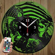 LED Vinyl Clock Captain America LED Wall Art Decor Clock Original Gift 3844