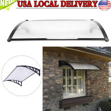 "47""x31"" Outdoor Front Door Window Awning Patio Canopy DIY Rain Snow Protection"