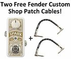 New TC Electronic Spark Mini Booster Guitar Effects Pedal Fender Cables