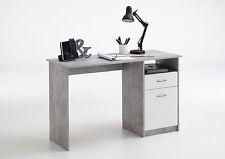 Jackson Schreibtisch Von FMD Beton / weiß By Wohnorama