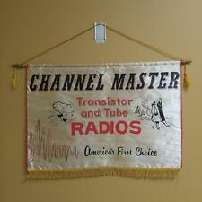 "Vintage Channel Master Transistor and Tube Radios Dealer Banner - 19"" x 28"""