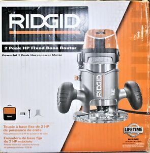 "Ridgid R22002 11-Amp 2-HP 1/2"" Corded Fixed Base Router Kit"
