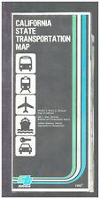 Caltrans 1980 California State Transportation Map