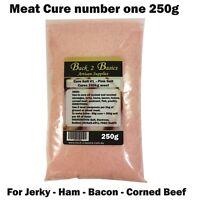 Meat Cure Salt #1 (6.25%) -250g Jerky Ham & bacon, Insta-cure, pink salt, Curing