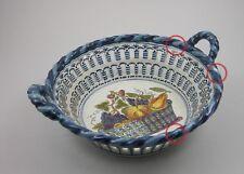 Durchbruchkorb Keramik Niederlande Holland Früchtekorb Monogramm CF