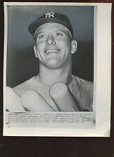 Original March 11 1960 Mickey Mantle Pay Cut 8 X 10 Wire Photo