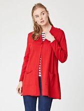 BNWT Thought Landor Long Knit Cardigan Poppy Red Organic Cotton & Wool Size 8