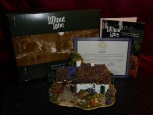 LILLIPUT LANE Scotch Mist L2159 Model Thatched Cottage Oban Scotland Boxed+deeds