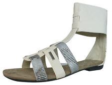 Flache Damen-Sandalen & -Badeschuhe im Gladiator-Stil aus Synthetik