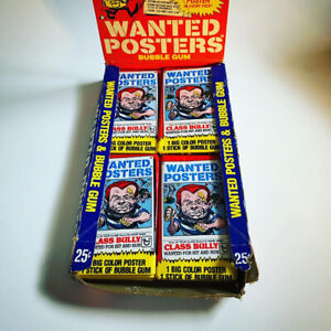 1980 Topps Wanted Posters - 21 Unopened Packs + Box