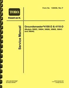 Toro Groundsmaster 4100-D and 4110-D SERVICE MANUAL