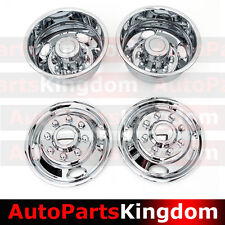 "05-17 Ford F350 DUALLY Chrome 17"" 8 Lug Wheel Simulator Liner+Center Caps Cover"