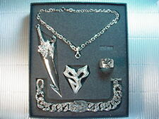 Final Fantasy X 10 FF10 Blade Necklace Bracelet Ring PG Set