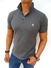 "Men's Brooks Brothers £ 75RP GRIGIO ""Slim Fit"" polo t-shirt taglia media (1767)"