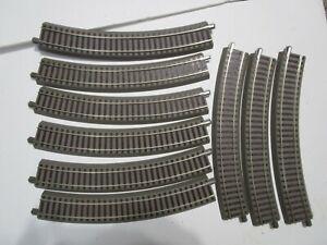 9 Pcs ROCO H0 61123 Curved Track R3 GEOLINE Radius 434.5 mm / arc angle 30° NEW