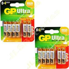 24 x AAA GP Ultra Alkaline Batteries 8+4 Free LR03 24AU
