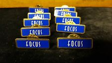 Focus PIns Lot of 10 Royal blue and gold tone with backs