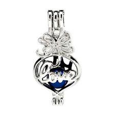 Bag Locket Pendant Pearl Cage K1116 5pcs/lot Silver Heart Love Letter Wish