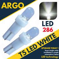 Super Bright T5 286 Led Xenon White Dashboard Bulbs Speedo Wedge Bulb Lights 12v