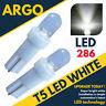 T5 Led Dashboard 286 Xenon White Car Bulbs Speedo 73 74 Wedge Bulb Lights 12v
