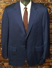 CANALI Men's Blue Striped Super 120's WOOL ITALY Blazer Jacket  (EU 52L US 42L)