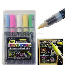 Munhwa Fluorescent Board Marker 5 Colors for LED White Black Board Decoration