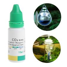 Aquarium CO2 Indicator Solution Fish Tank Liquid Test Plants Supplies Long Term