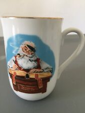 Norman Rockwell Vintage Gold Trimmed Christmas Cup