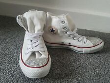 CONVERSE ALL STAR SIZE UK 4 EU 36.5 WOMEN White  CANVAS TRAINERS SHOES