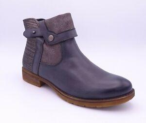 Romika Wendy 01 Women's Anthrazit Blue Flat Ankle Boots Size UK 4 EUR 37