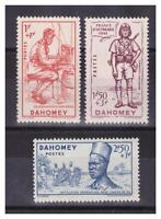 DAHOMEY.  N° 142/144. 3 VALEURS   NEUVES  **. SUPERBE