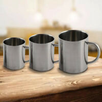 Portable Stainless Steel Double Wall Mug Travel Tumbler Coffee Tea Cup Healthy